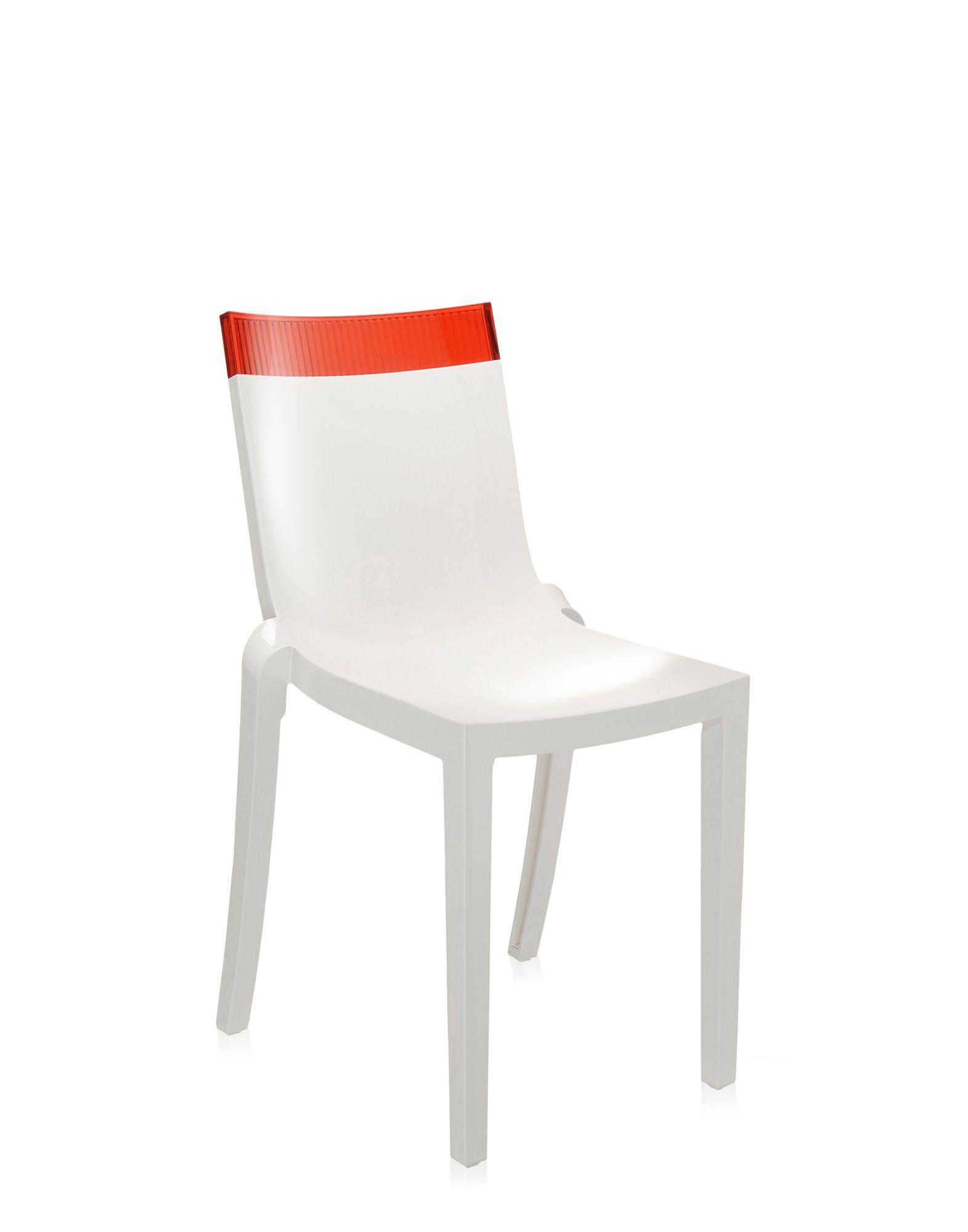 Kartell hi cut rosso bianco sedie design newformsdesign for Sedie design kartell