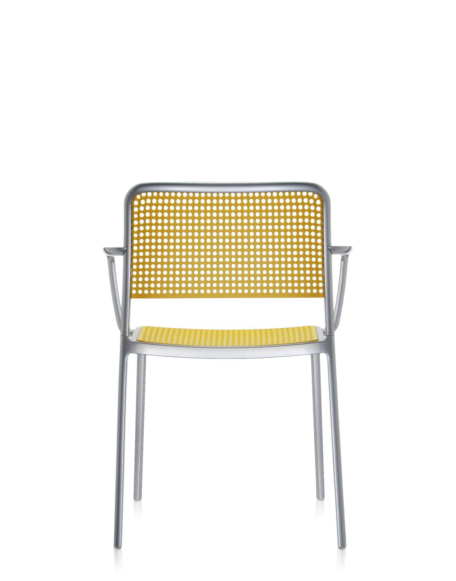 Chair Kartell Audrey yellow polished aluminum