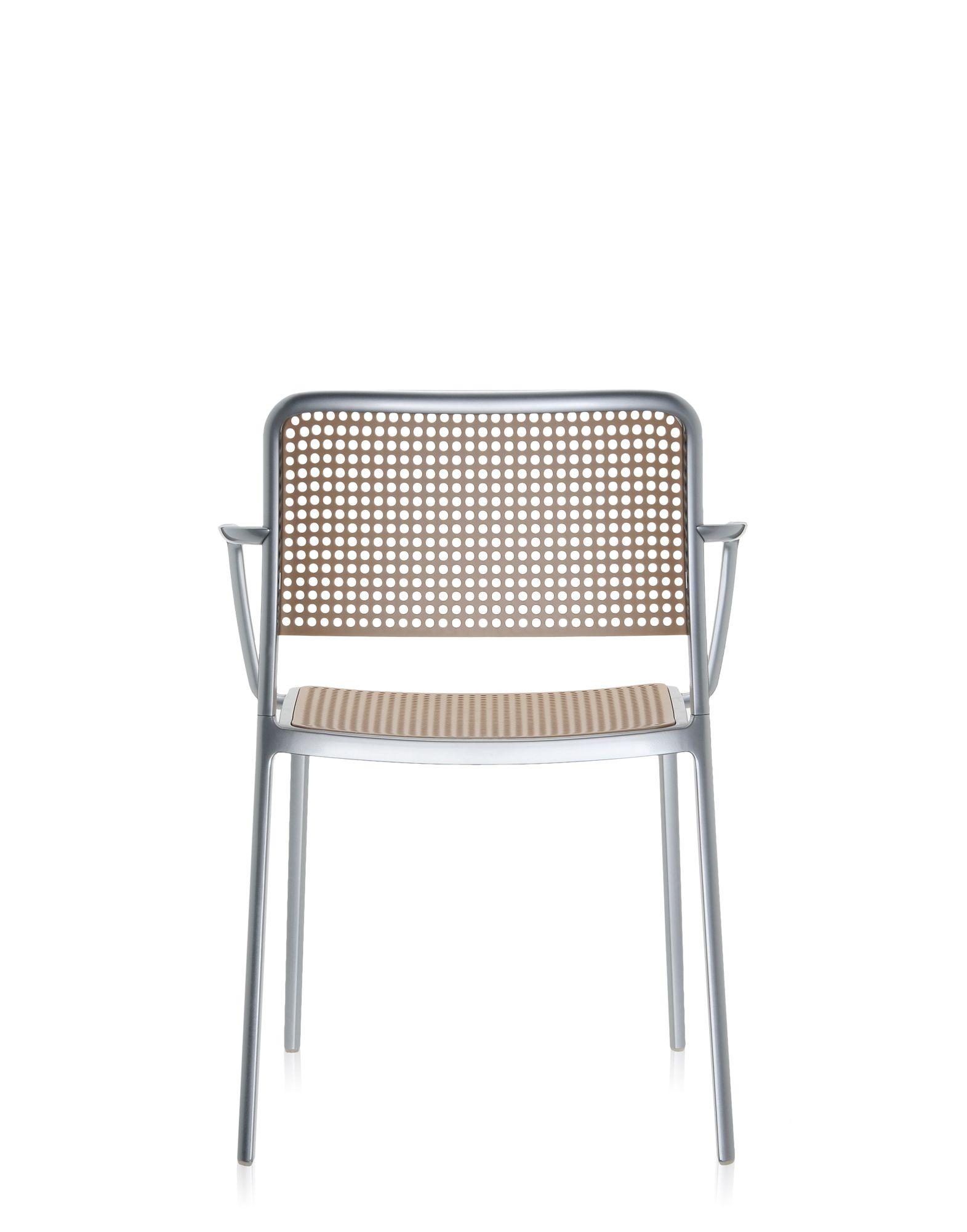 Kartell audrey sabbia alluminio lucidato sedie design for Sedie alluminio design