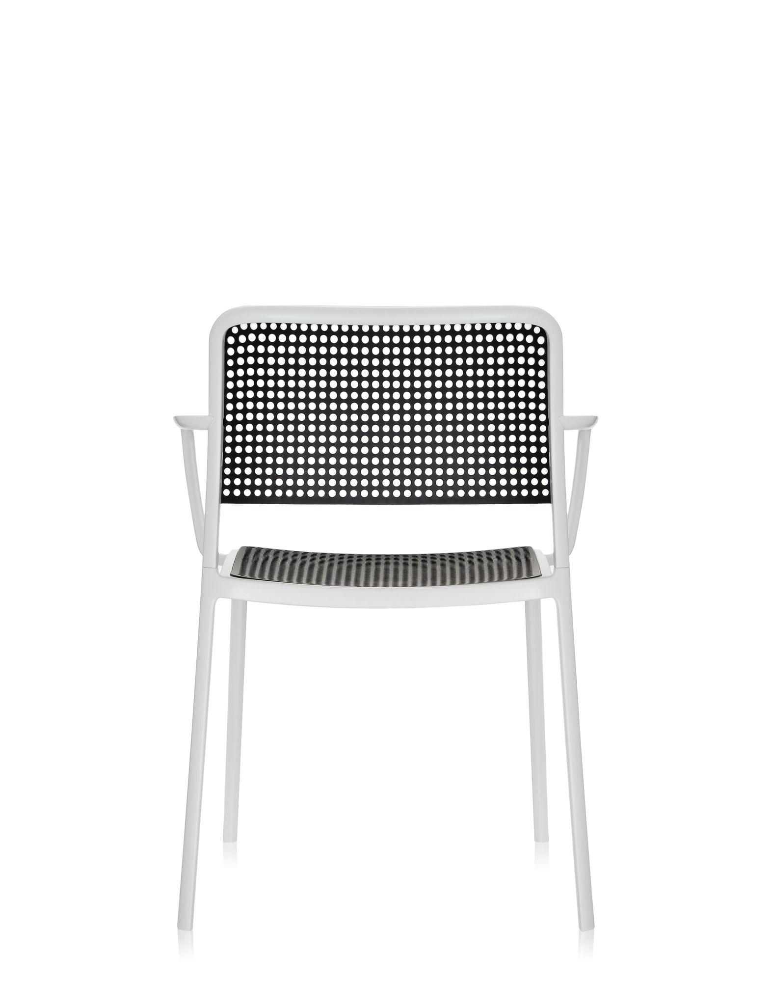 Kartell audrey nero alluminio verniciato bianco sedie for Sedie alluminio design