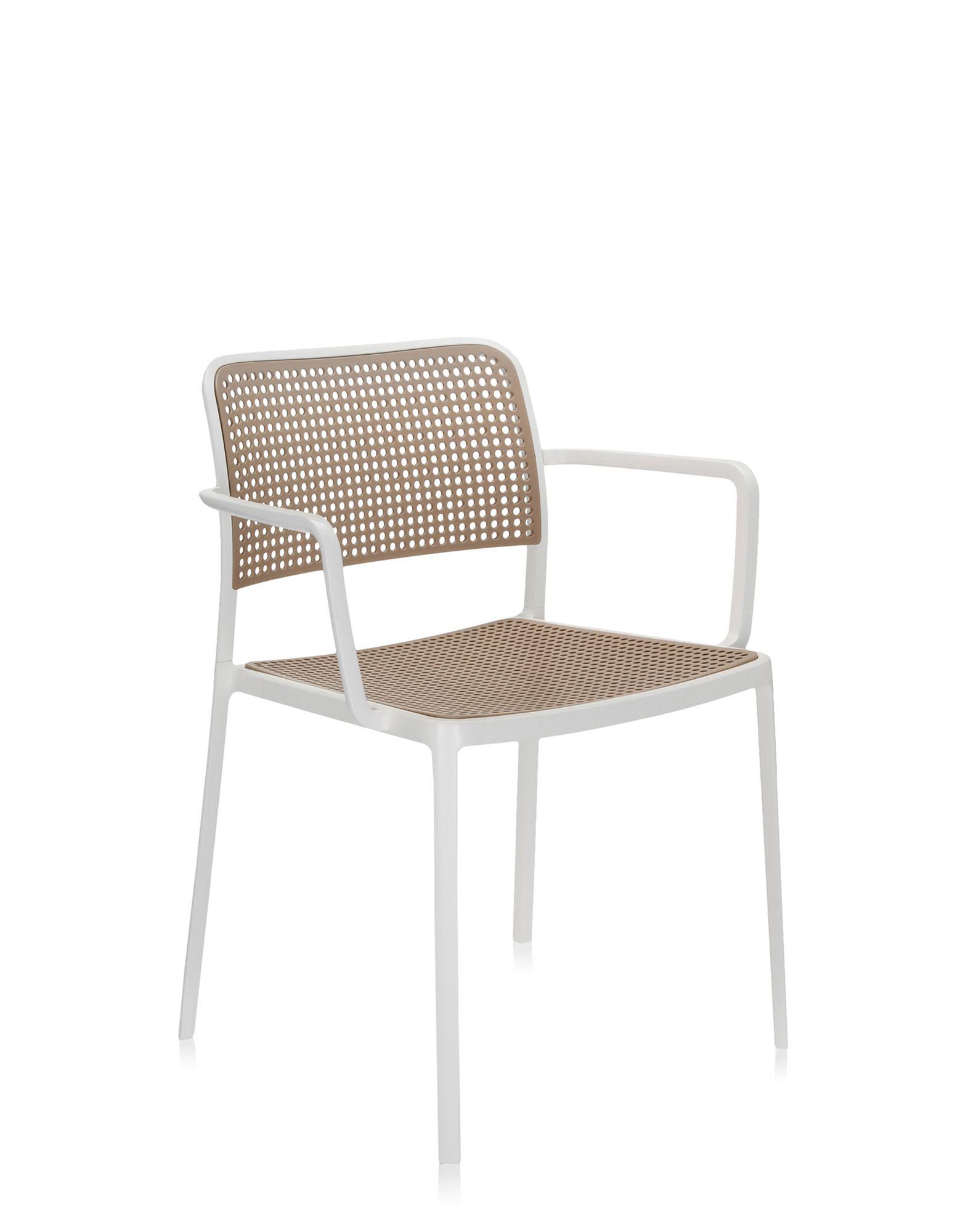 Kartell audrey sabbia alluminio verniciato bianco sedie for Sedie alluminio design