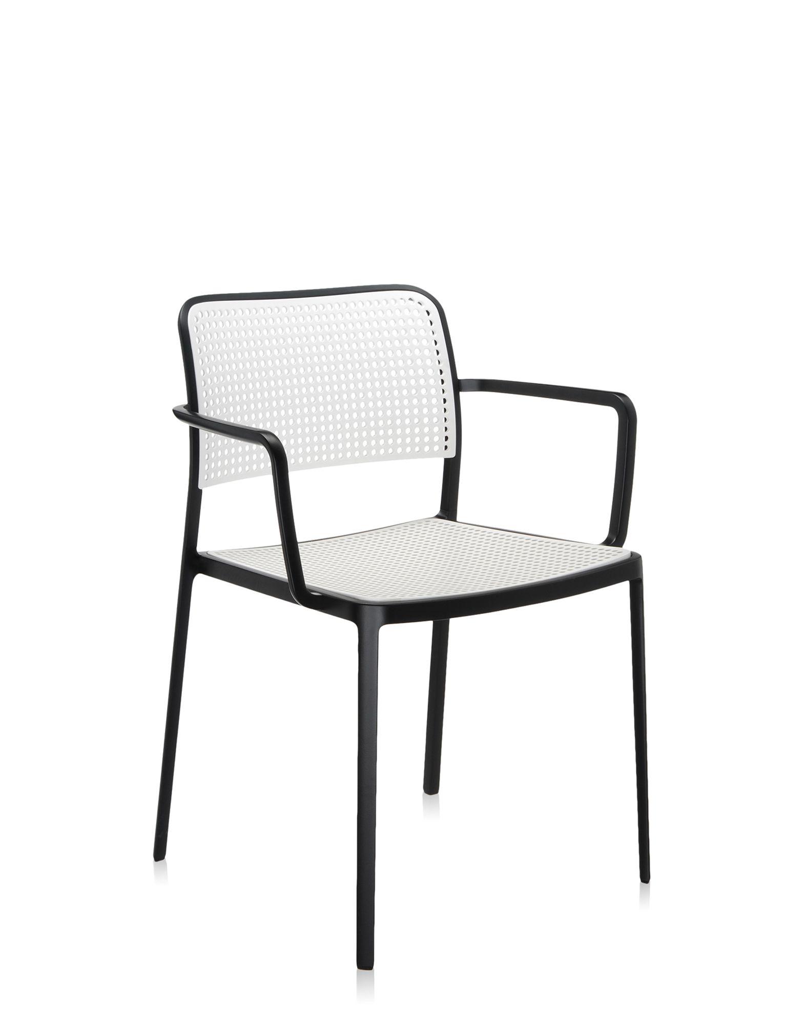 Kartell audrey bianco alluminio verniciato nero sedie for Sedie alluminio design