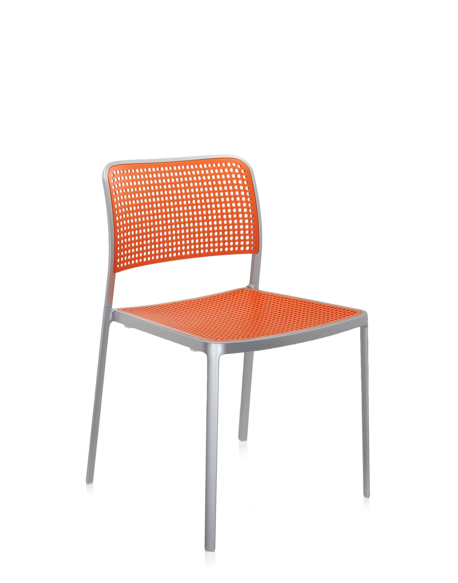 Kartell audrey arancio alluminio verniciato sedie design for Sedie alluminio design