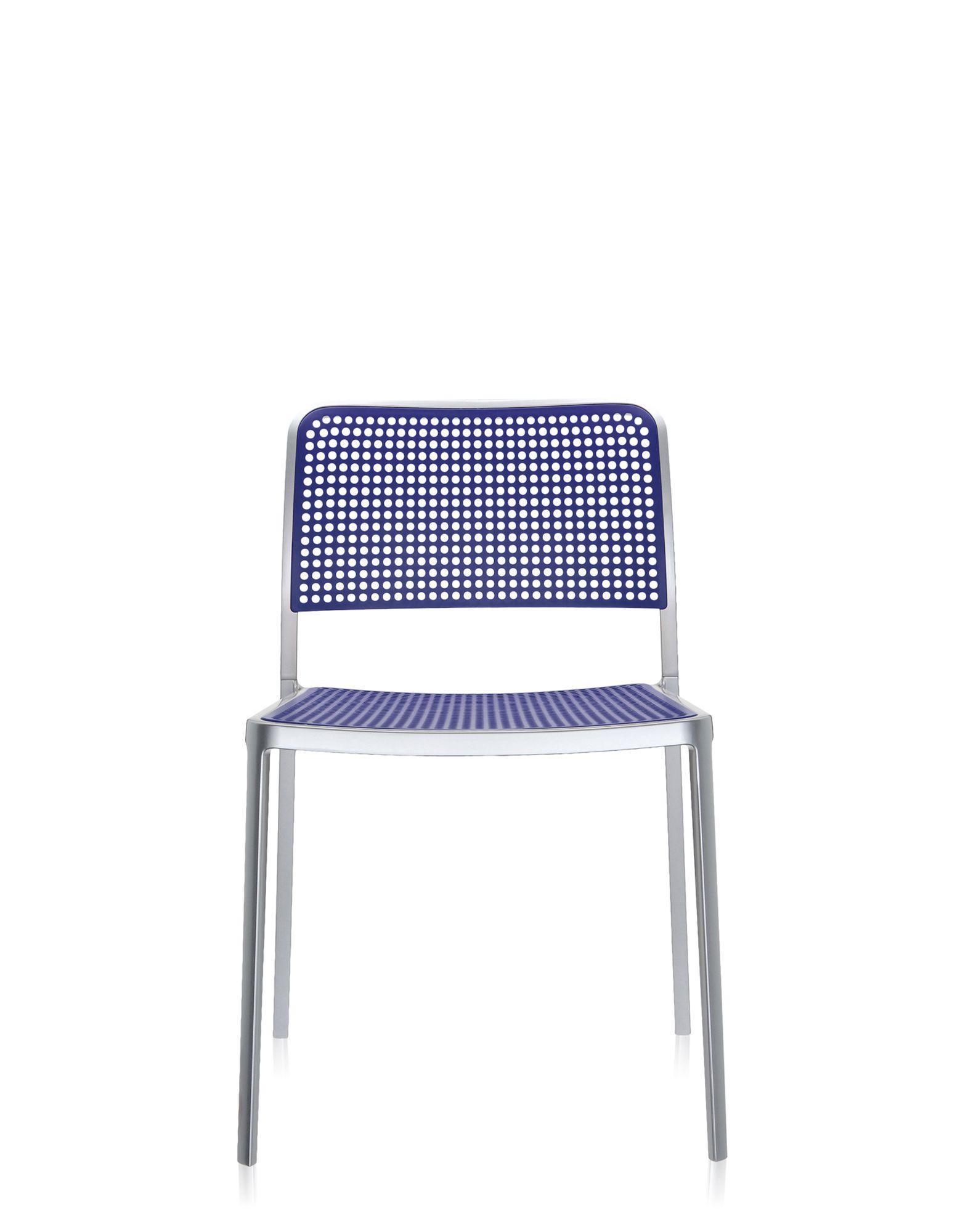 Kartell audrey blu alluminio verniciato sedie design for Sedie alluminio design