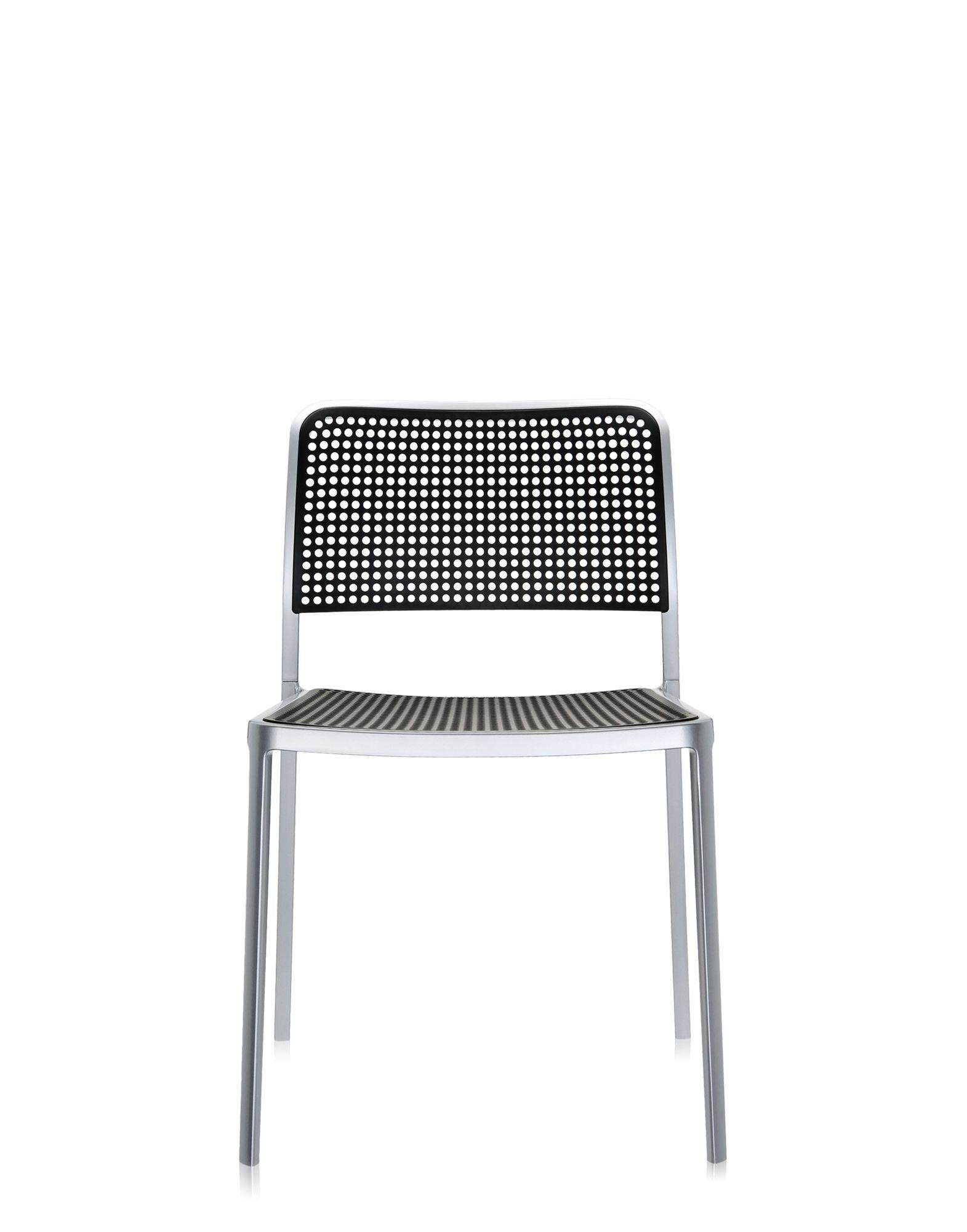 Kartell audrey nero alluminio verniciato sedie design for Sedie plastica design kartell