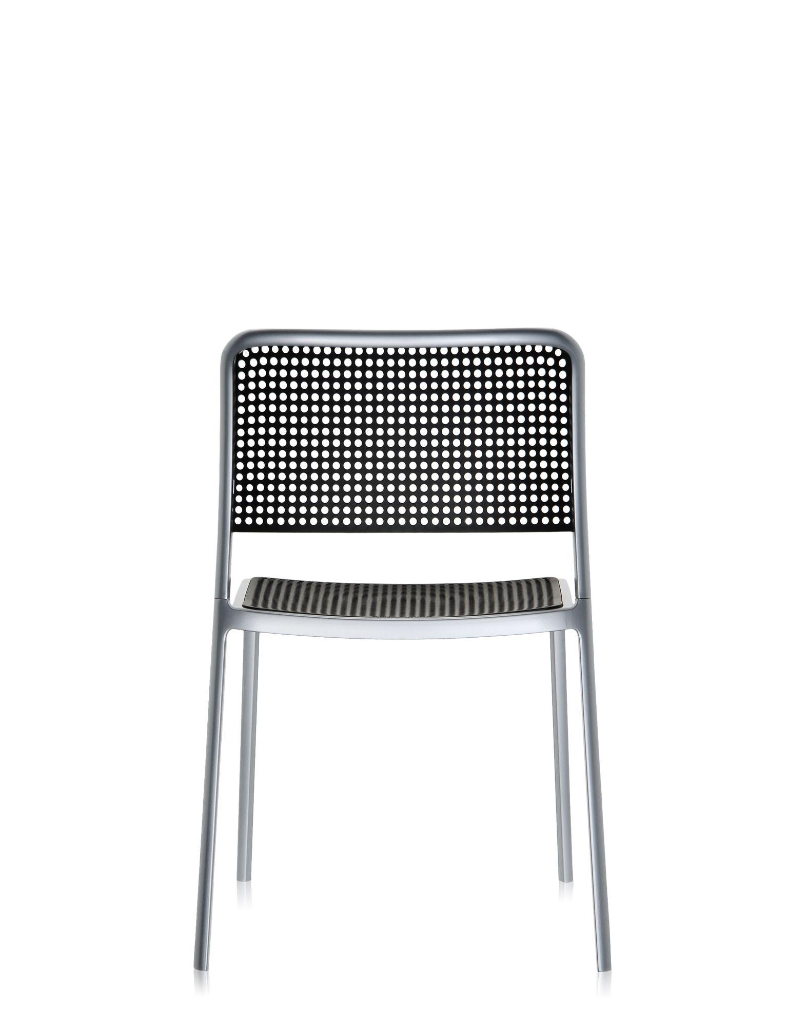 Kartell audrey nero alluminio verniciato sedie design for Sedie alluminio design