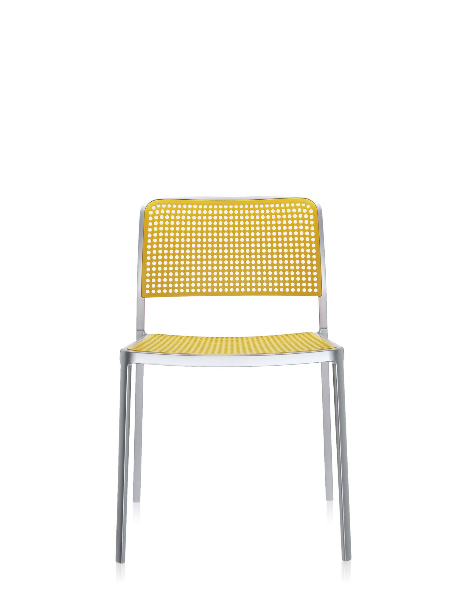 Kartell audrey giallo alluminio verniciato sedie design for Sedie alluminio design