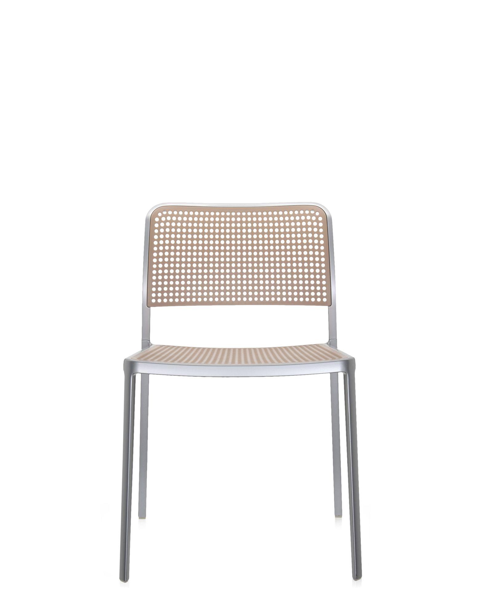 Kartell audrey sabbia alluminio verniciato sedie design for Sedie plastica design kartell