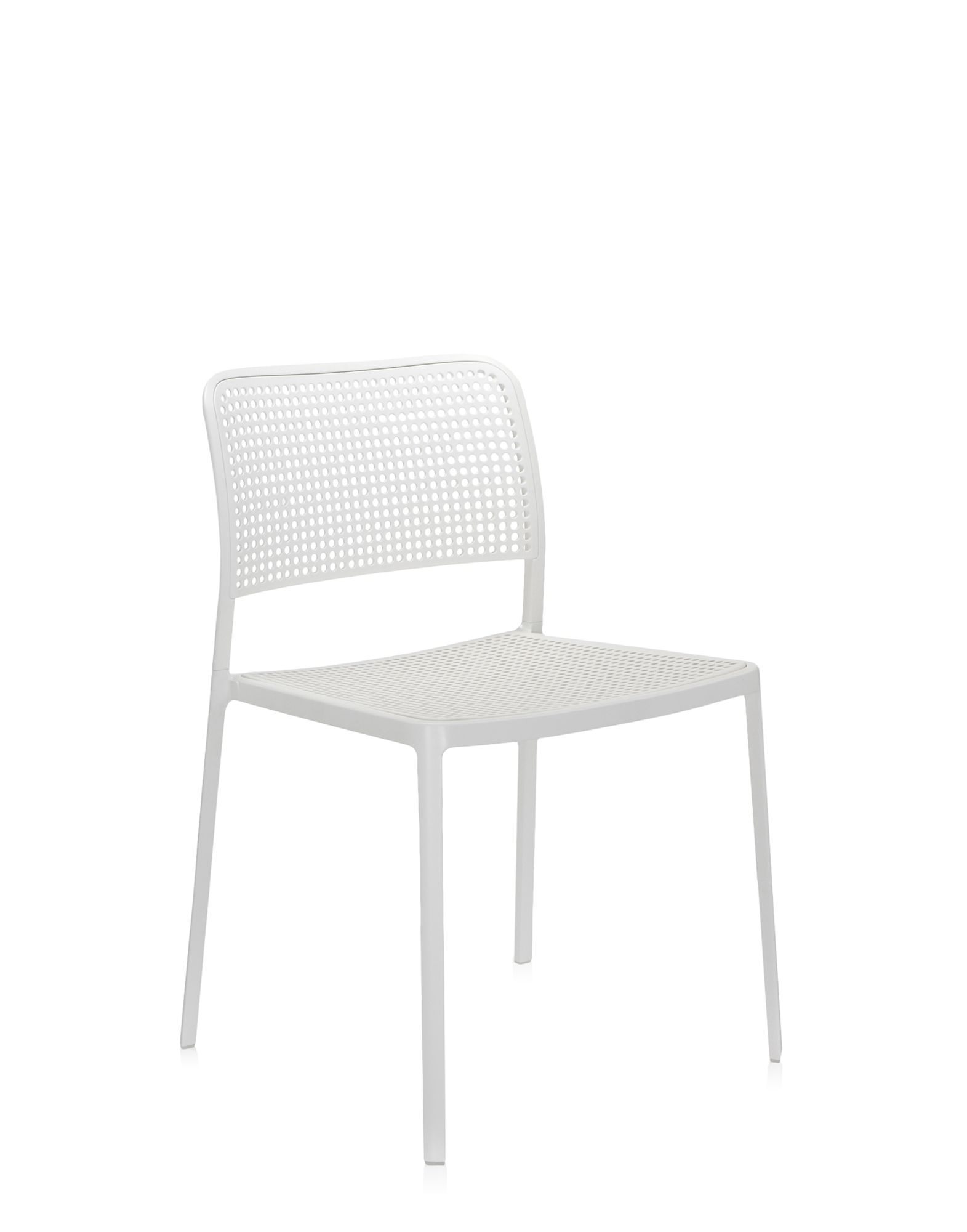 Kartell audrey bianco alluminio verniciato bianco sedie for Sedie alluminio design