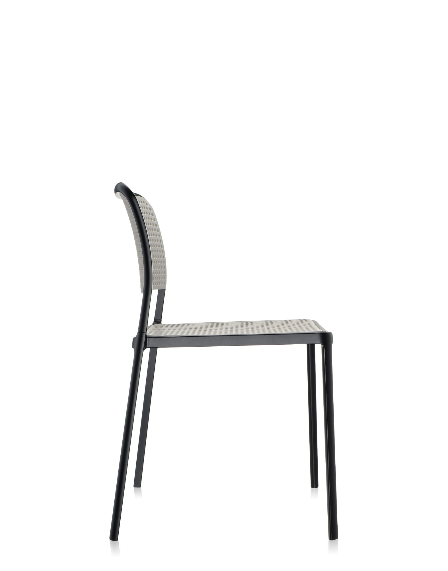 Kartell audrey grigio chiaro alluminio verniciato nero for Sedie alluminio design