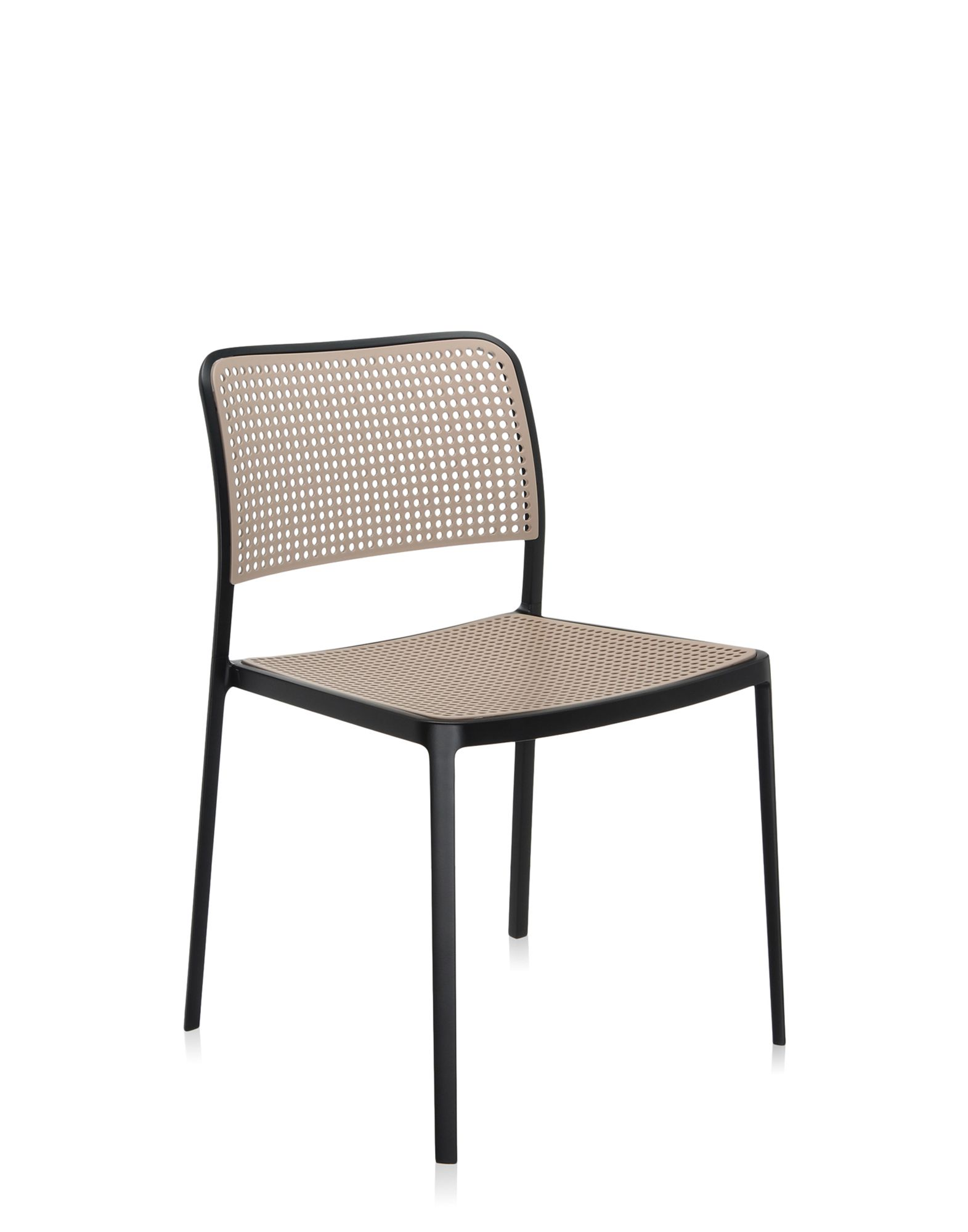 Kartell audrey sabbia alluminio verniciato nero sedie for Sedie alluminio design