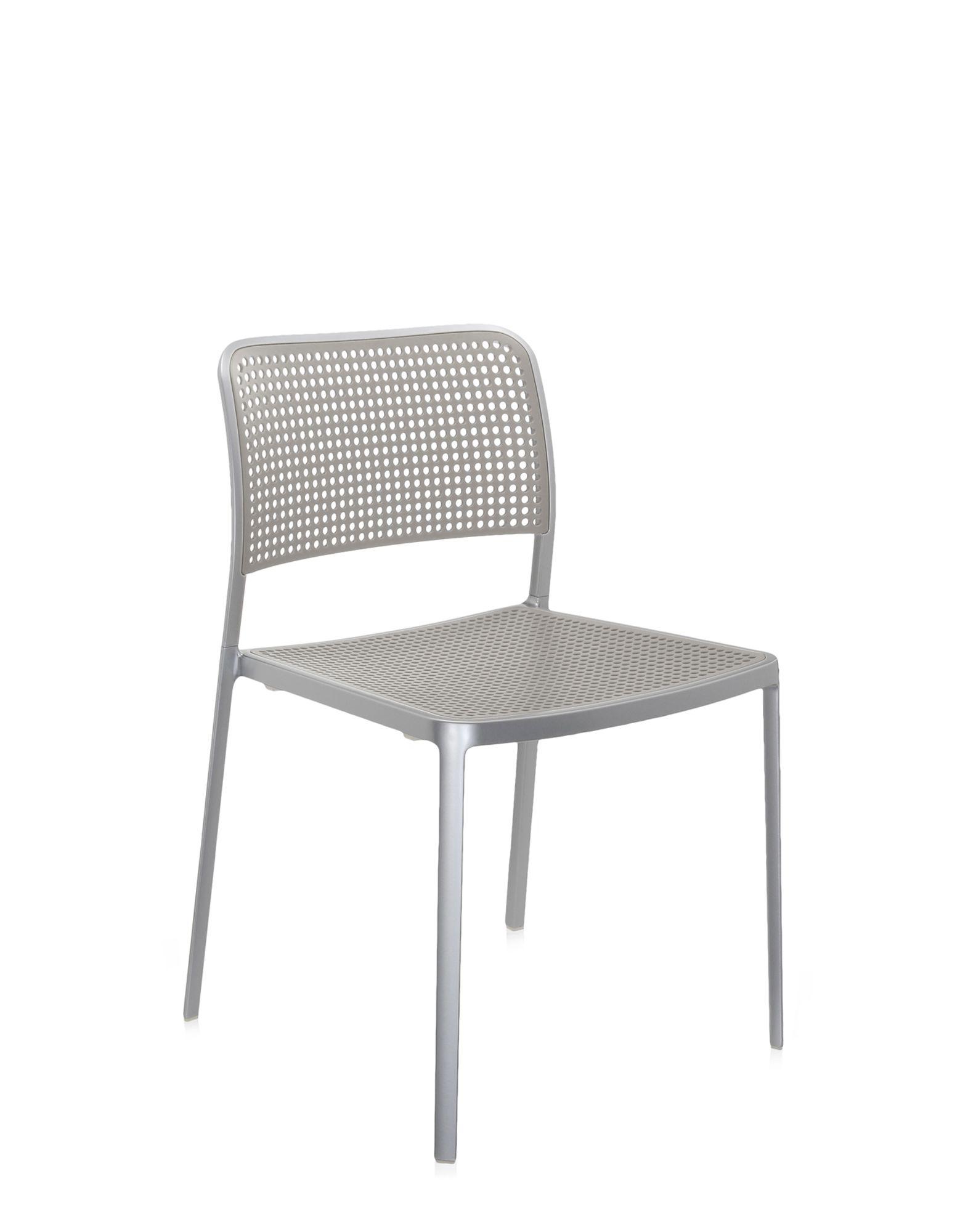 Kartell audrey grigio chiaro alluminio lucidato sedie for Sedie design kartell