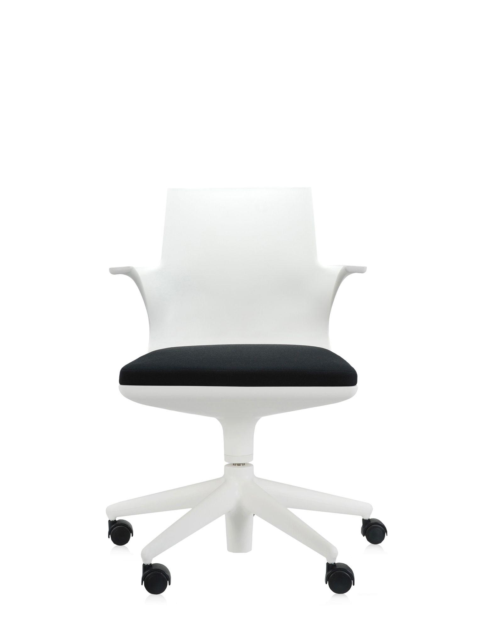 kartell sedia ufficio spoon chair bianco nero sedie