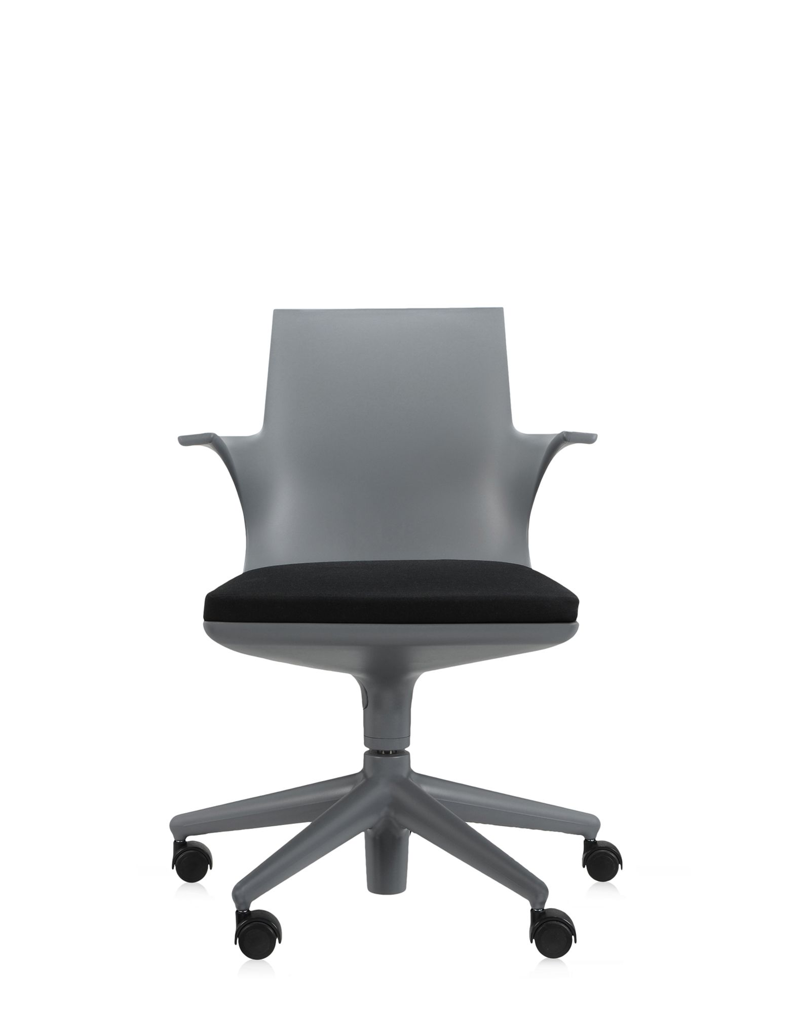 Kartell office chair spoon chair grey black