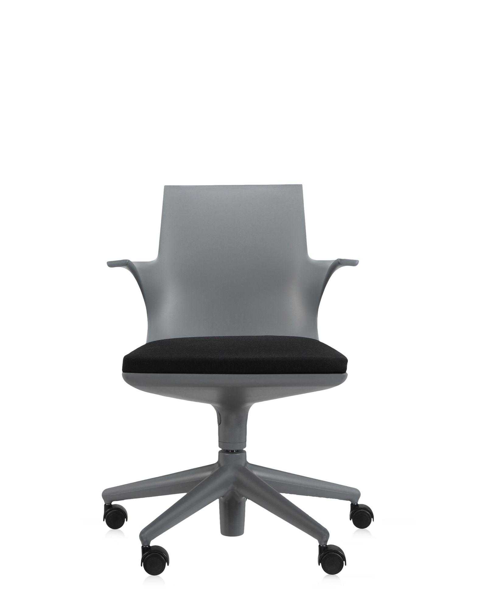 Kartell Sedia Ufficio Spoon Chair Grigio Nero Sedie