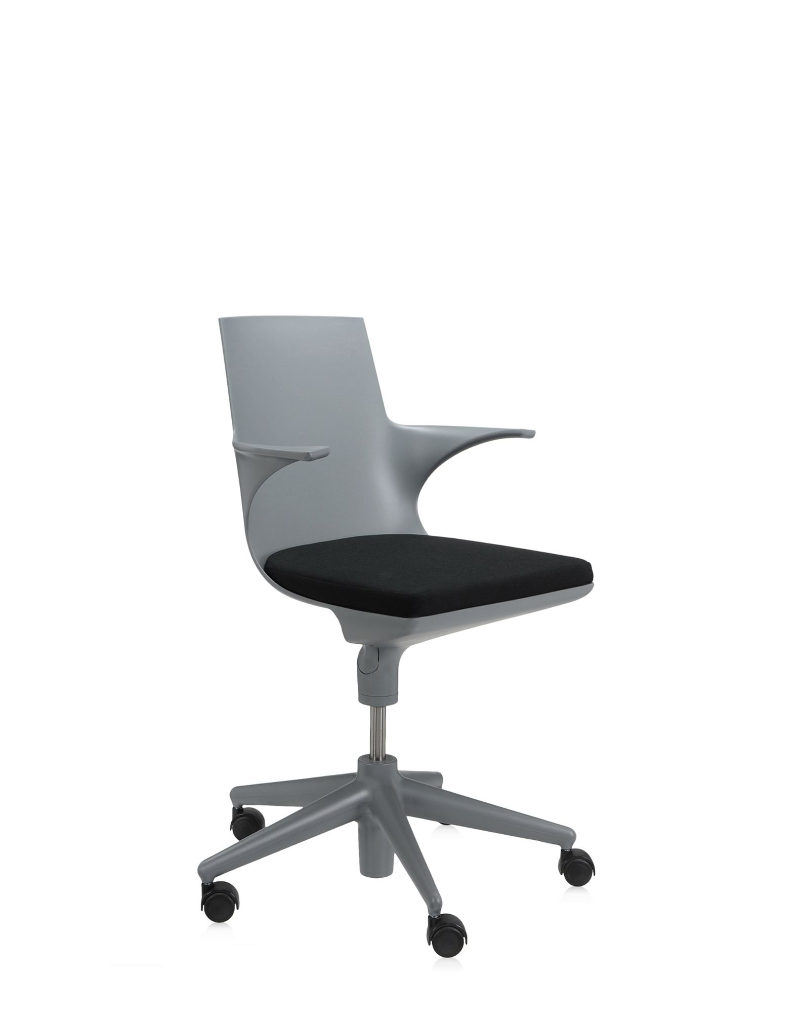 Kartell Office Chair Spoon Grey Black