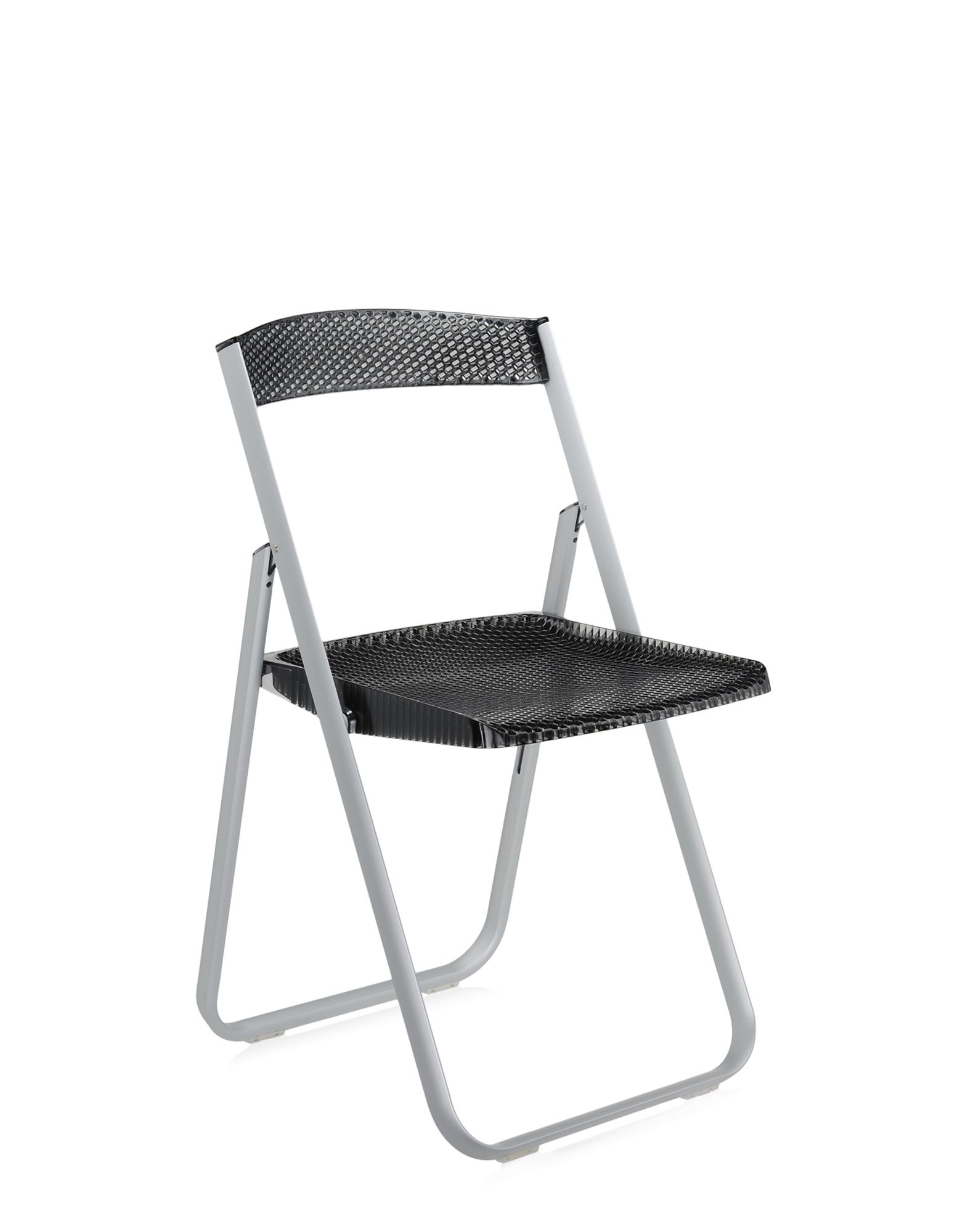 Kartell folding chair honey comb fume' transparent
