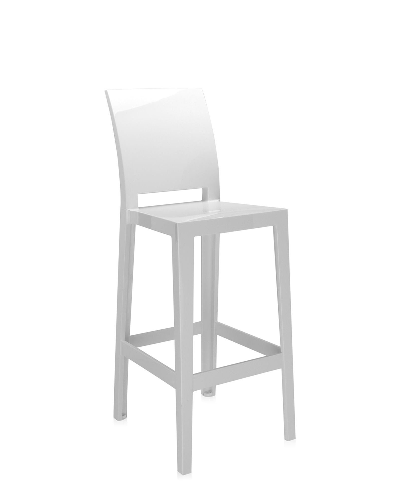 Kartell Stool One More Please white covering H 75 cm