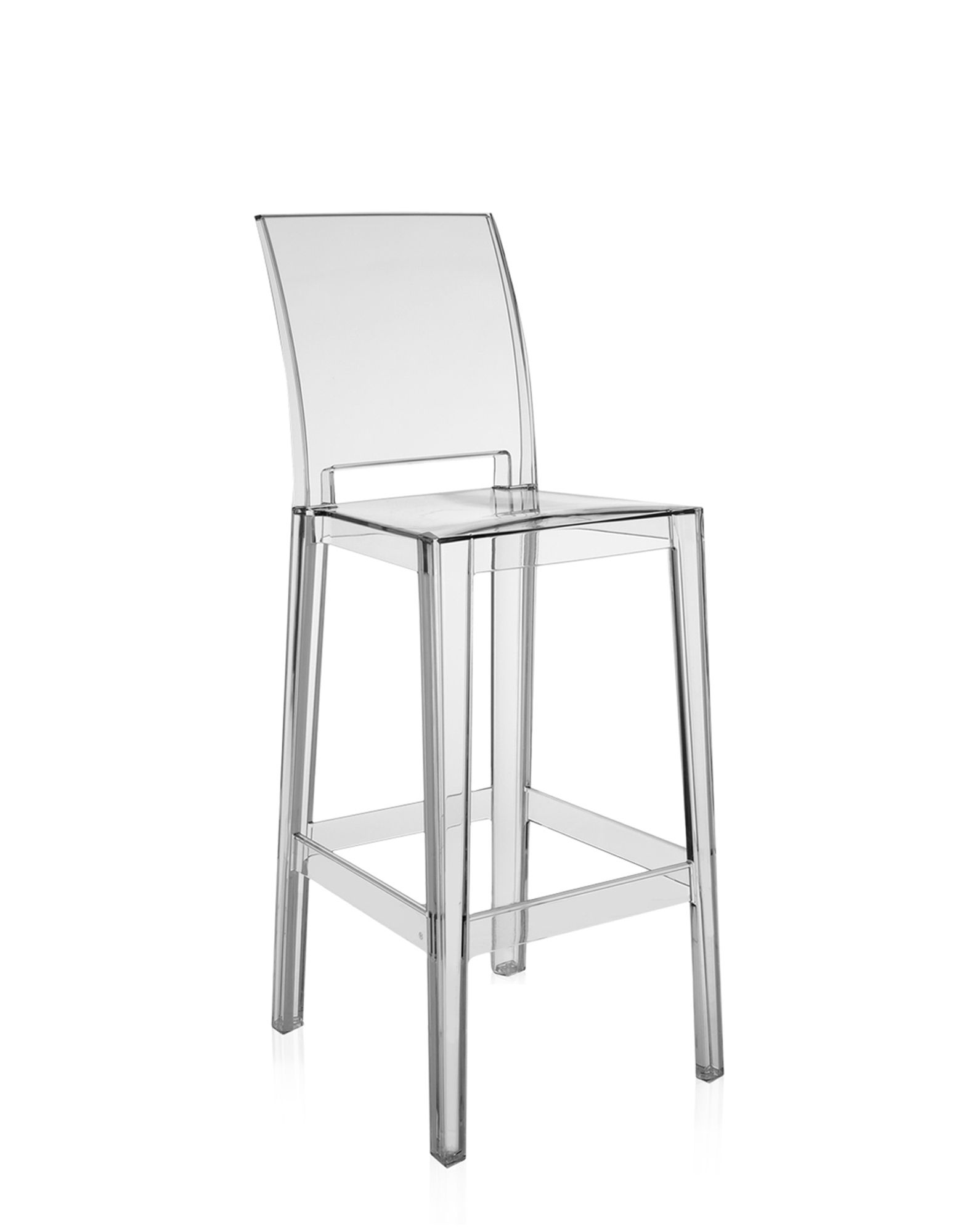 Kartell sgabello One More Please cristallo H 75 cm