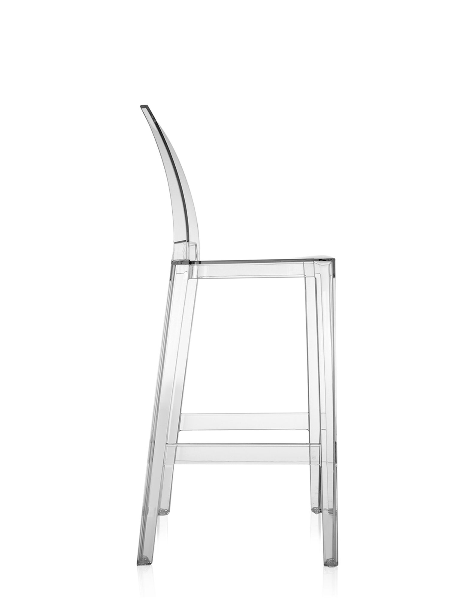Kartell Stool One More Please Crystal 75 Cm