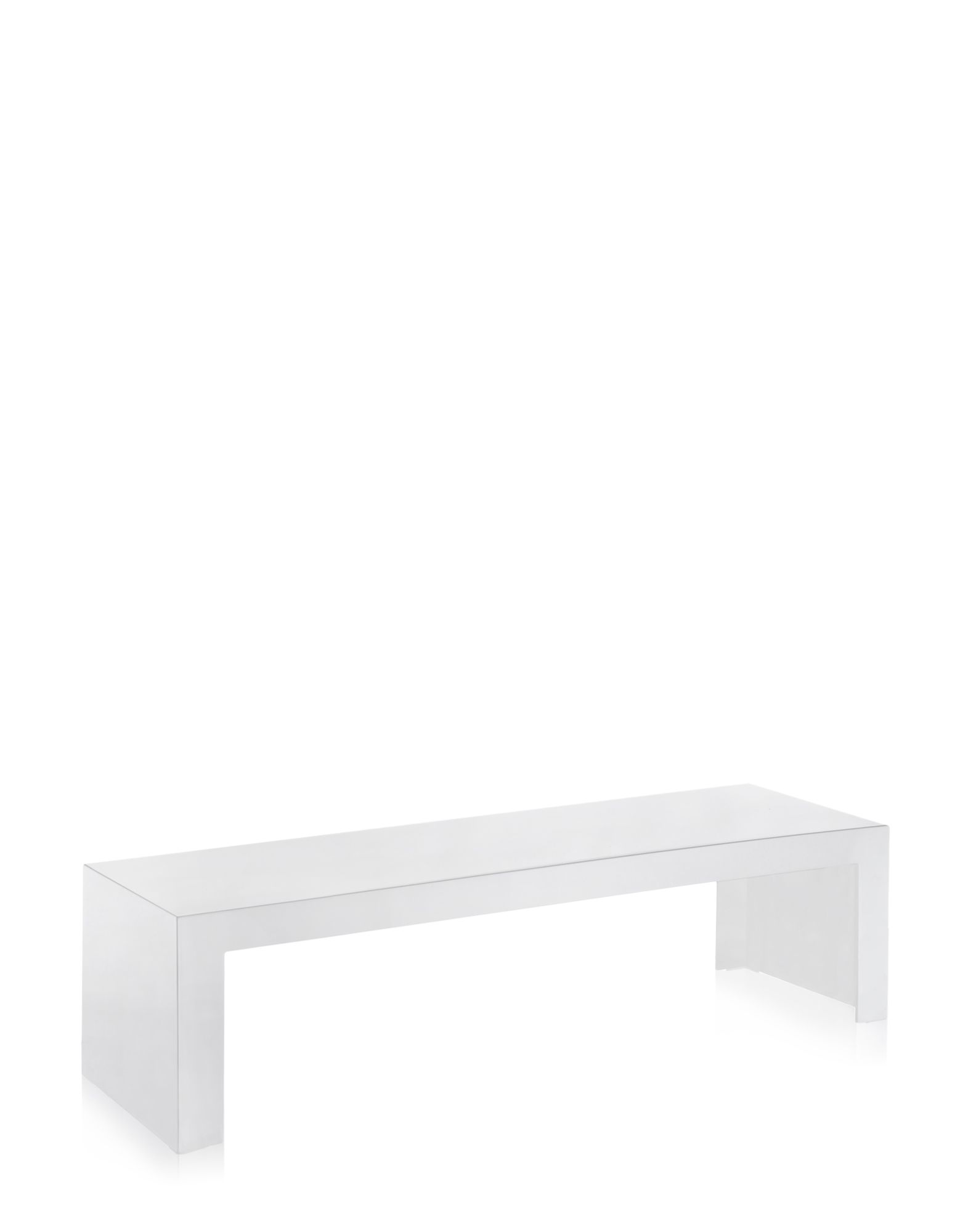 Side Table Kartell Invisible White Covering Rectangular H Cm - Kartell invisible coffee table