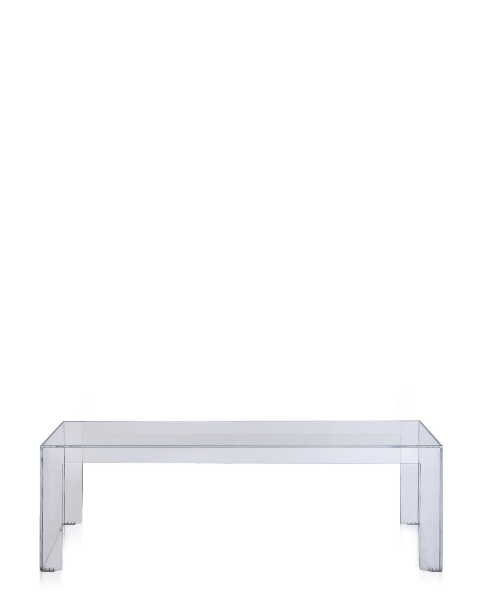 Side Table Kartell Invisible Crystal Rectangular Newformsdesign